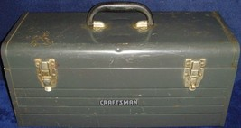 "Vintage•1970•Craftsman•Model No 6500• Toolbox•Box•20""x8""x9""•w/Tool Tray•Preowned - $37.39"