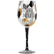 Lolita Blinging New Year Wine Glass - Mouth Blo... - $25.99