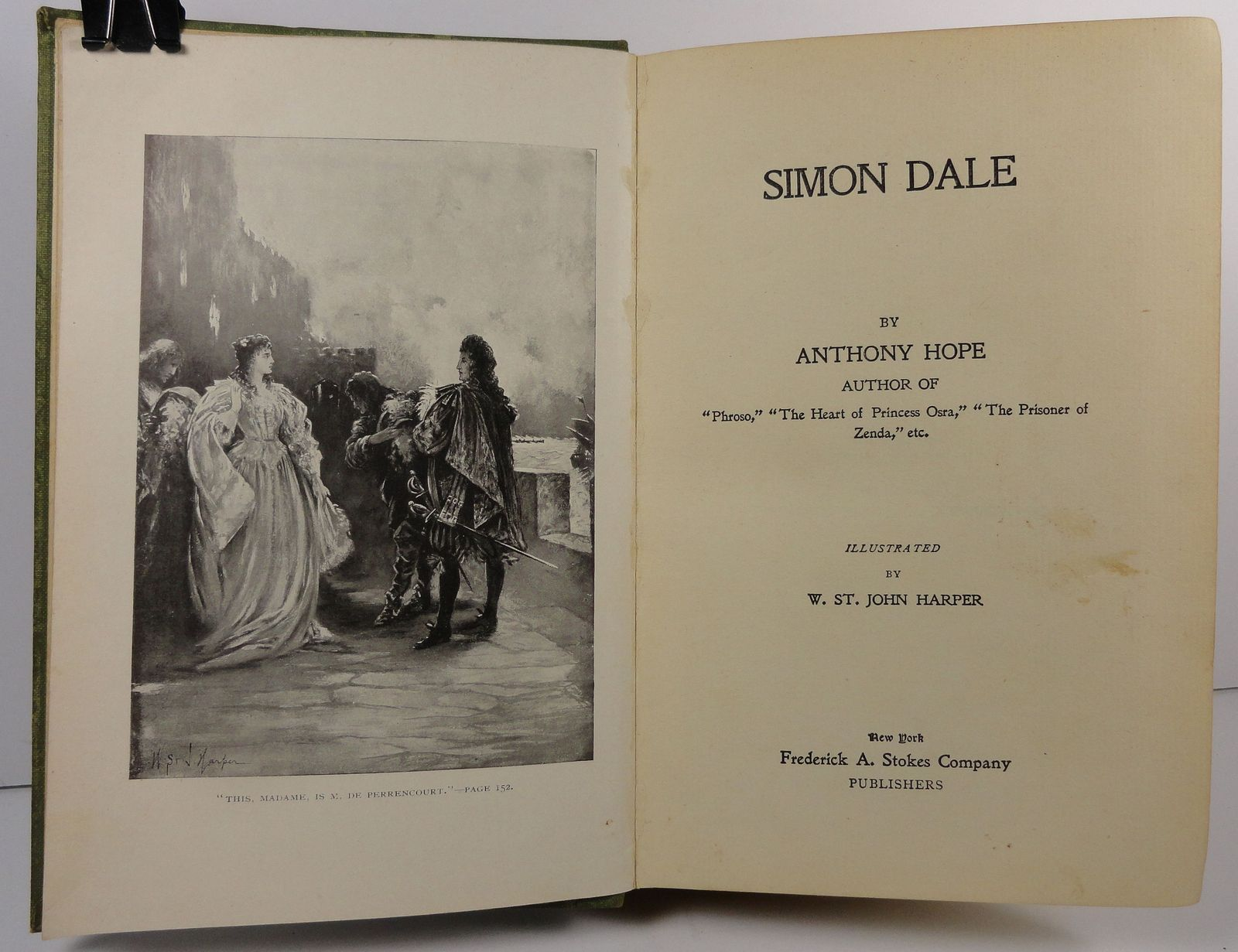 Simon Dale by Anthony Hope 1897 Frederick A. Stokes