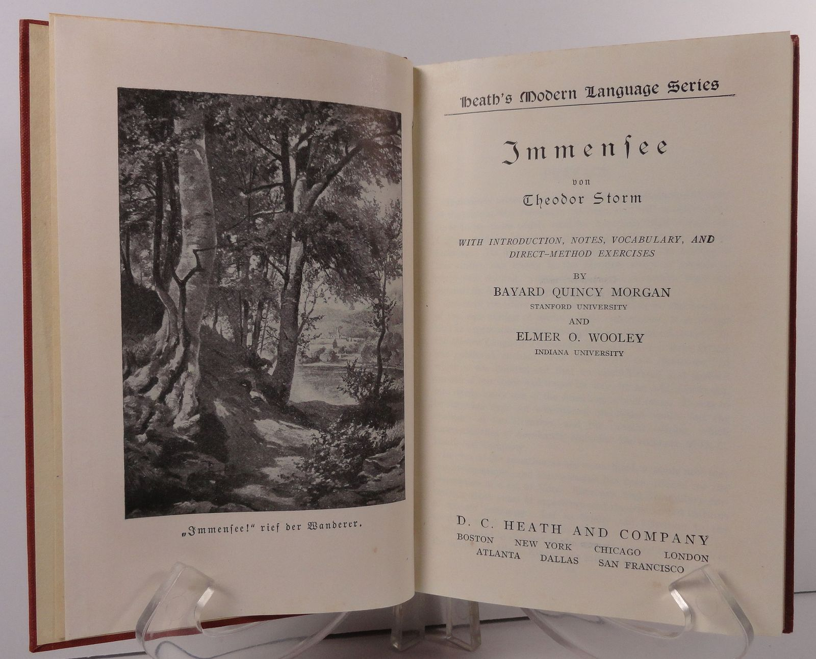 Immensee von Theodor Storm by Morgan and Wooley D. C. Heath