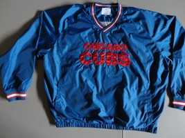 Blue Chicago Cubs Lined Pullover MLB Baseball Embroidered Jacket 4XL Exc... - $49.38