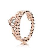 Rose Gold Plated Princess Tiara Ring For Women QJCB1035 - $20.88