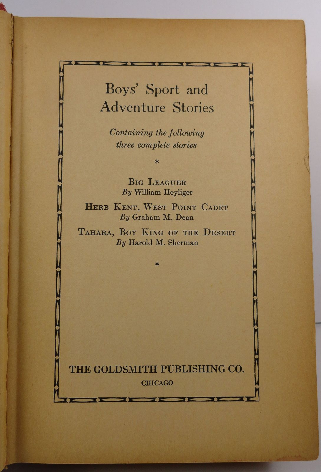 Boys Sport and Adventure Stories Heyliger, Dean, Sherman