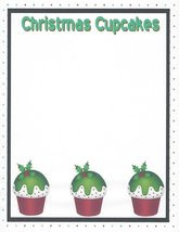 Christmas Cupcakes Stationery Printer Paper 26 Sheets - $9.89