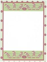 Christmas Gingerbread Ho Ho Ho Stationery Printer Paper 26 Sheets - $9.89