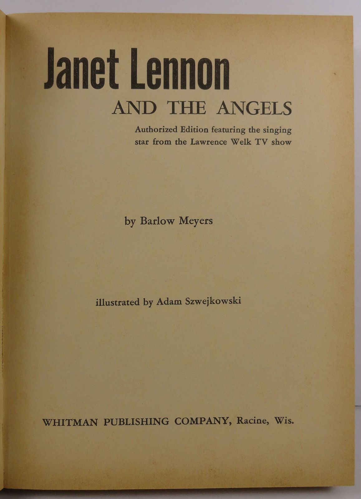 Janet Lennon and the Angels by Barlow Meyers 1963 Whitman