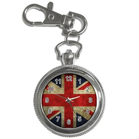 Gift Key Chain Watch - United Kingdom British Flag Key Chain Watch