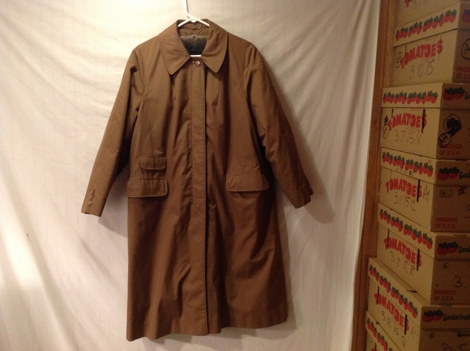 Mens Weather Bee Winter Rain Trench Coat with Removable Fleece Lining