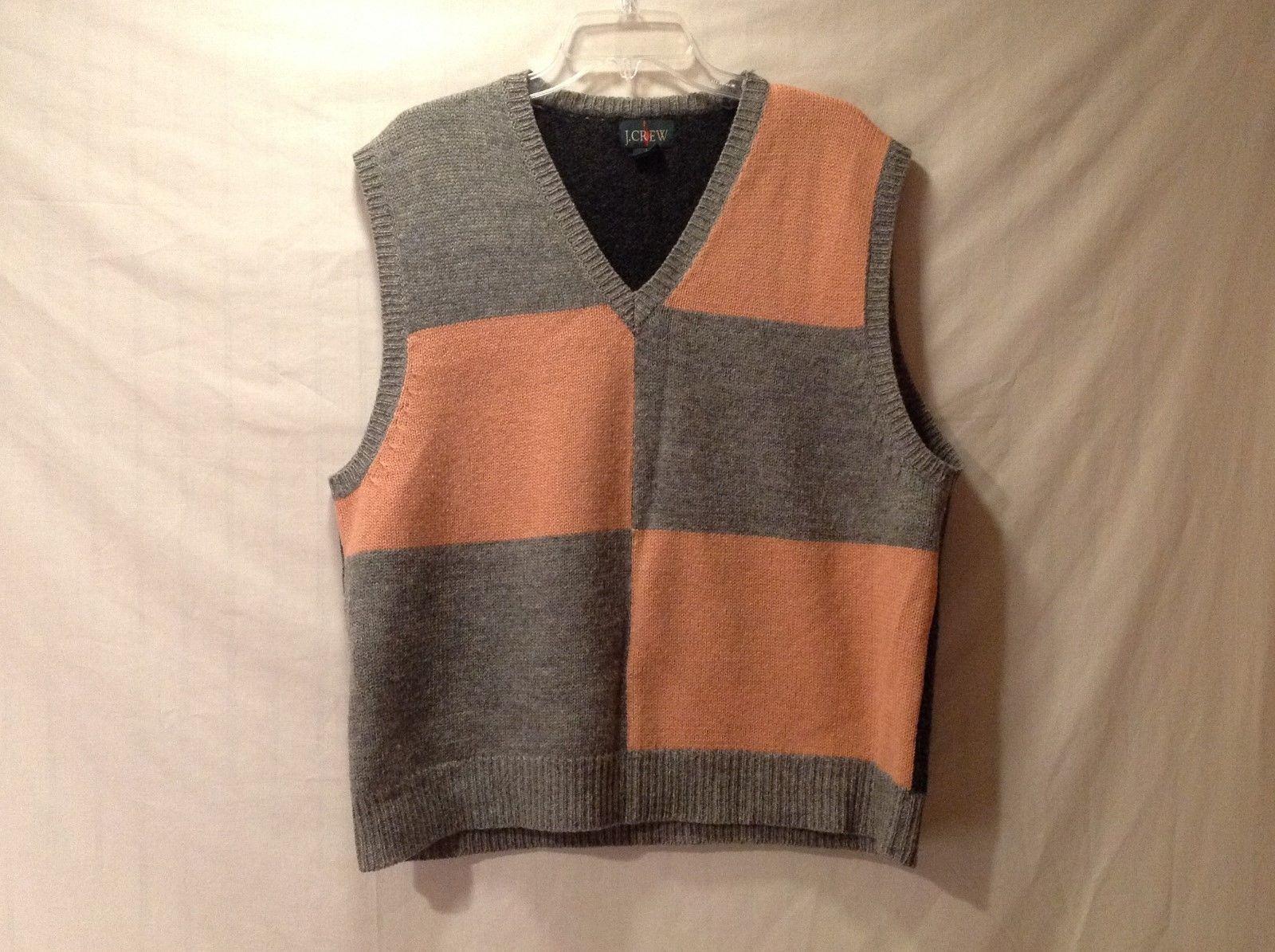 Mens J.CREW 100% Wool Vest Size L