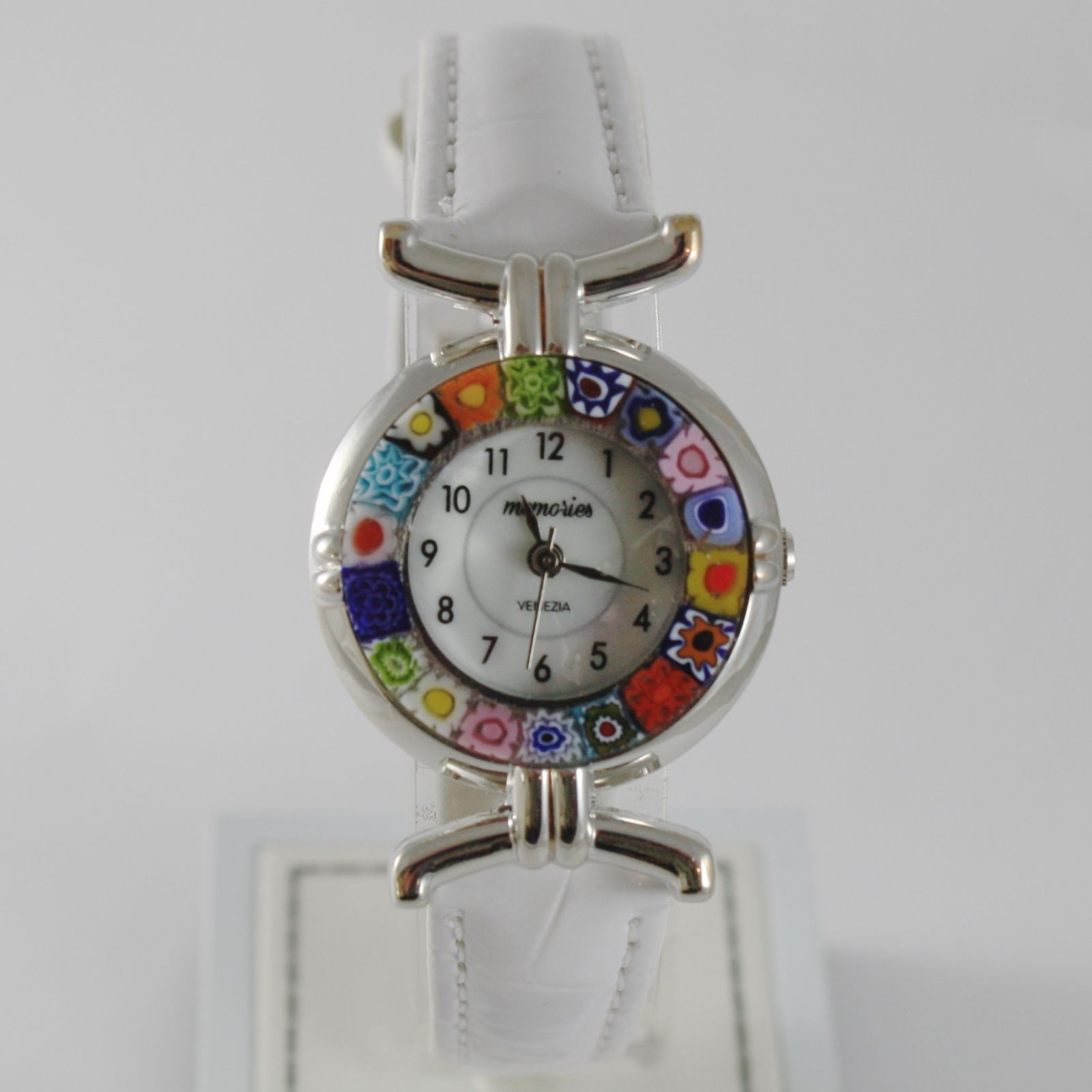 ANTICA MURRINA VENEZIA QUARTZ WATCH 27 MM, WHITE, MURANO FLOWER GLASS