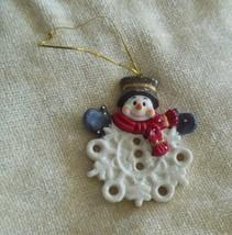 """Snowman Porcelain Christmas Ornament 3.5""""  - $12.86"""
