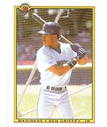 1990 bowman error card ken griffey jr seattle mariners baseball card rare - $19.99