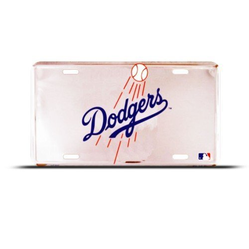 Dodgers La Los Angeles Mlb Metal Sport License Plate Wall Sign Tag
