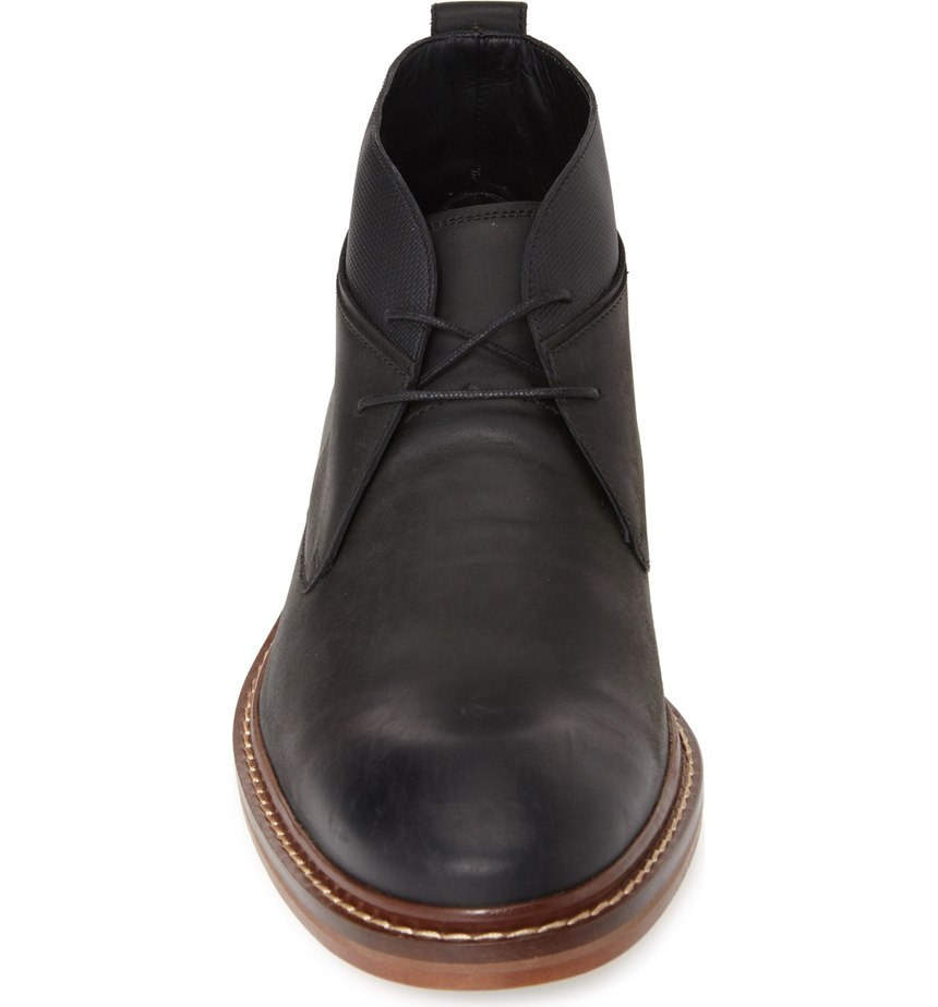 Handmade Mens Ankle Leather Boot, Men Black Leather Boots, Men Lace Up Boot