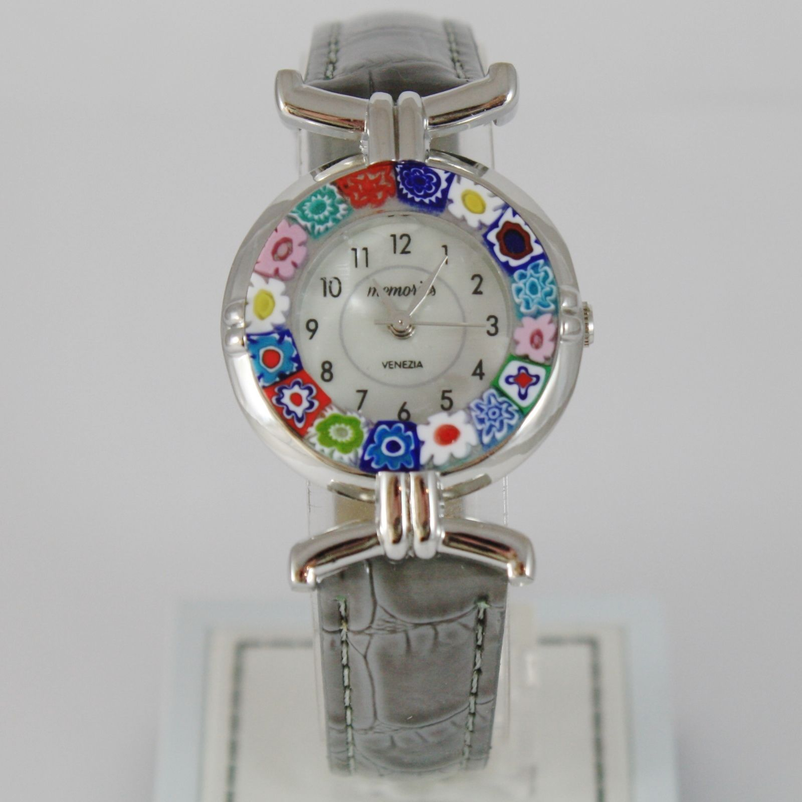 ANTICA MURRINA VENEZIA QUARTZ WATCH 27 MM, GRAY, MURANO FLOWER GLASS