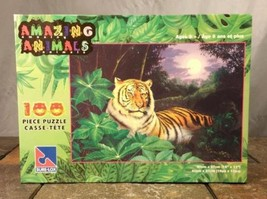 Sure-Lox Amazing Animals Tiger In The Jungle 100 Piece Jigsaw Puzzle Sealed - $9.84