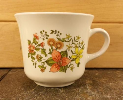 Vintage Corning Corelle Retired Indian Summer Pattern Floral Coffee Mug Tea Cup