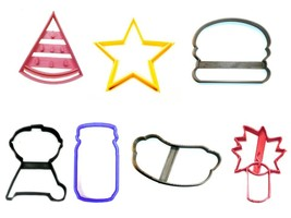 Fourth 4th of July BBQ Picnic Party Food Set of 7 Cookie Cutters USA PR1447 - $14.99