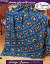 Bright Squares V.2 Tns Granny Square Afghan Crochet PATTERN/INSTRUCTIONS/NEW - $1.41
