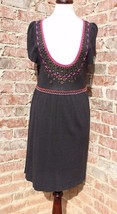 Nanette Lepore Cotton Rayon Blend Shift Dress Sz M Embroidery  - $46.71 CAD