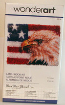 American Eagle 15 X 20 inches CARON-Wonderart Latch Hook Kit  NEW-NIB - $13.55