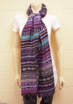 Tolani Chalet Scarf in Purple NWT - $78.21