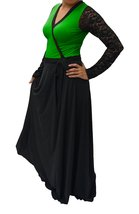 DBG Women's Green Polyester Long Sleeves Lace Maxi -5X - $42.56