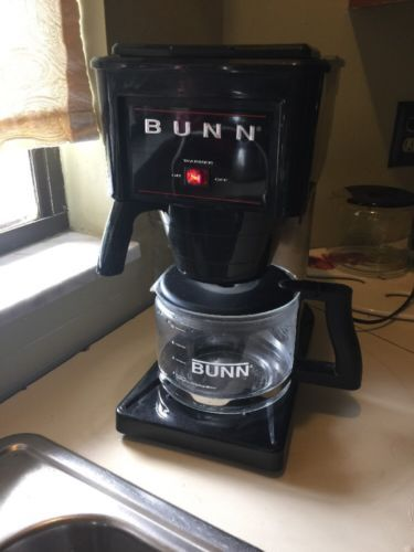 Bunn Coffee Maker Carafe Glass : GUC Bunn B10-B Automatic Coffee Maker Black & Stainless w/ Glass Carafe 10 Cup - Coffee Makers ...