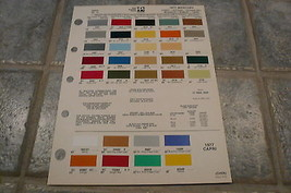 1977 Mercury Ditzler PPG Color Chip Paint Sample - Comet Cougar Monarch Capri - $7.84