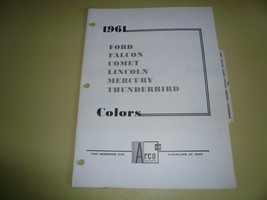 1961 Ford Arco Mobil Paints Color Chip Paint Sample Falcon T Bird Comet - $7.84