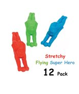 Stretchy Flying Super Hero - 12 Pack - $0.52