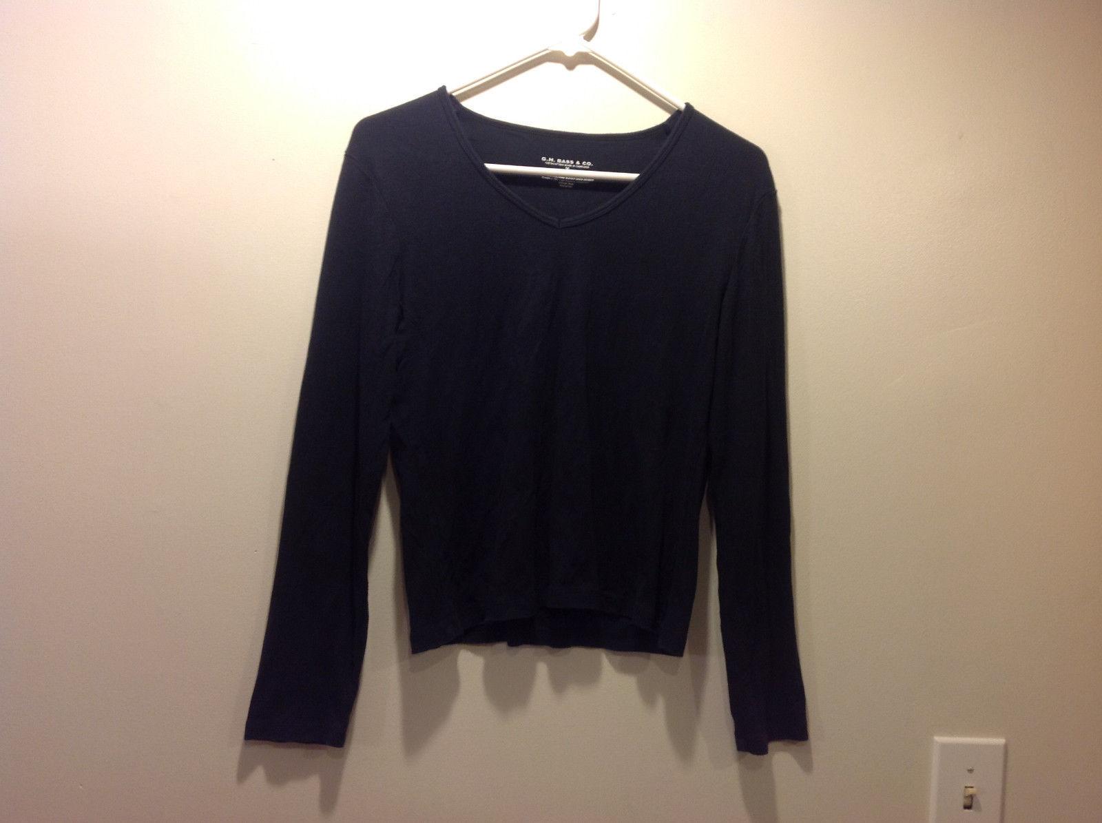 G.H. Bass & CO. Black long sleeve shirt