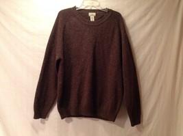 Good Condition L.L. Bean 100% Wool Brown Sweater Size L Crew Neck Men's