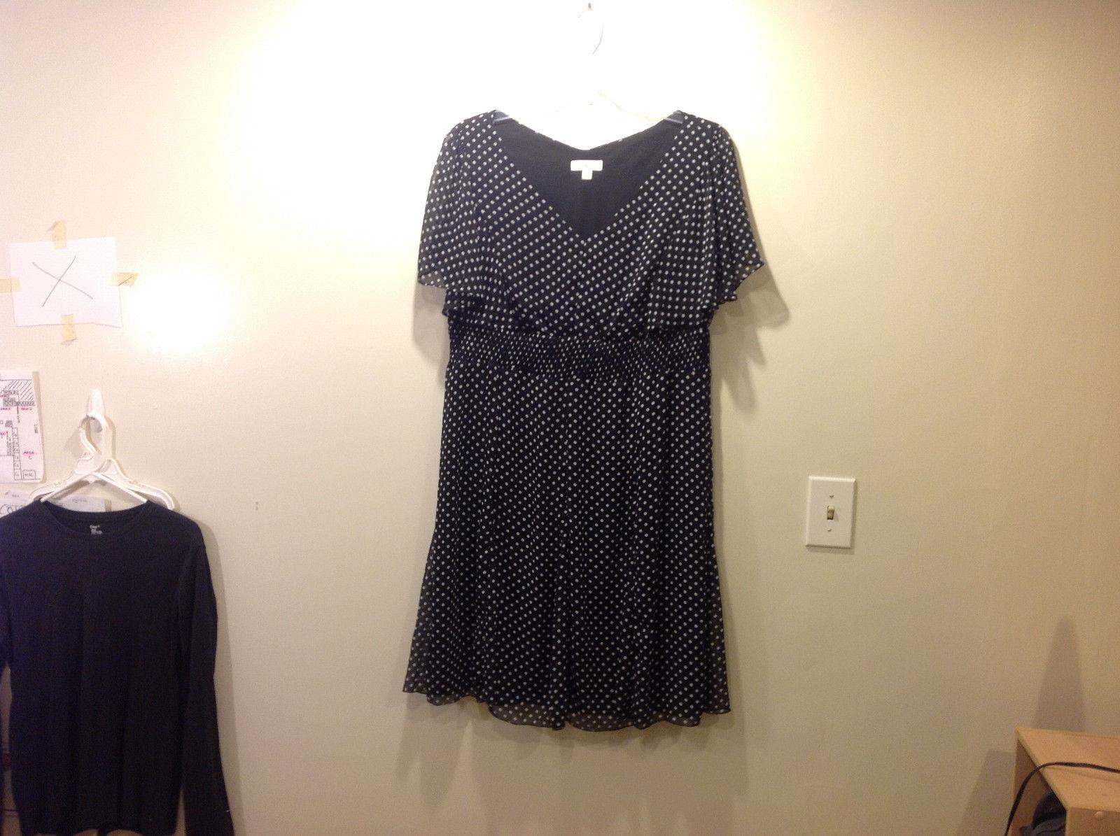 Dressbarn black dress with white polka dots
