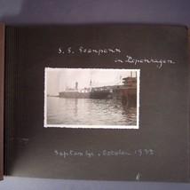 1933 Photo Snapshot Album Denmark Finland Ships Trains Lighthouses Castl... - $22.95