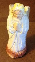 Vintage Christmas Nativity Kneeling Praying Angel Figure Hand Painted Chalkware