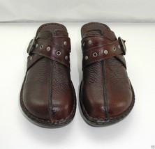 Born B.O.C. Brown Leather Split Toe Criss Cross Straps Mules Clogs - Women's 8M - $31.30