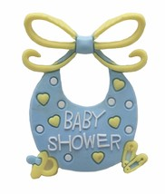 12 Flexible Pink Blue Bib baby shower favors appliques - 4 pk of 3 - $5.93