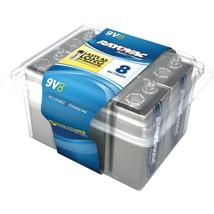 RAYOVAC A1604-8PPF Alkaline Batteries Reclosable Pro Pack (9V, 8 pk) - $33.99