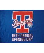 MLB Texas Rangers Baseball Opening Day 2016 Sportswear Fan Blue T Shirt ... - $16.34