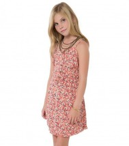 O'Neill ABBIE Girls Youth Spaghetti Strap Dress Size Medium Pink Floral ... - $39.50