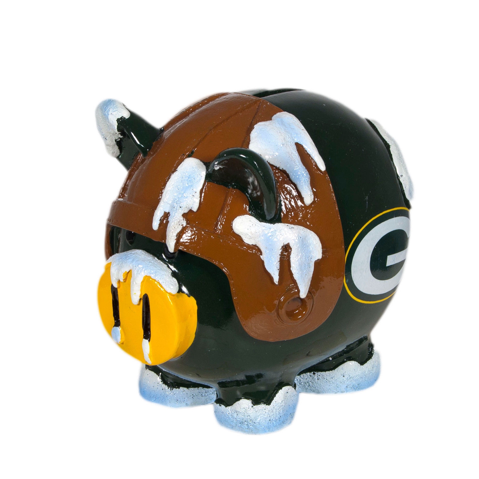 FOREVER COLLECTIBLES NFL GREEN BAY PACKERS LARGE PIG LEAGUERS PIGGY BANK NEW