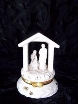 Rare Single Issue Lenox Holy Family Treasure Box with 24k GP Star Pendan... - $39.99