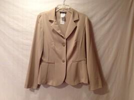 Good Condition Blu Sage Tan Lightweight Dressy Blazer Size 10 Polyester Spandex