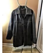 Leather Men's Jacket Brown original weatherproo... - $87.07