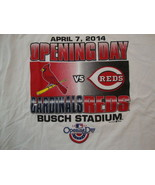 MLB Baseball St. Louis Cardinals Opening Day 2014 Sports Fan T Shirt Siz... - $15.53