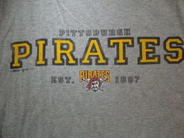 MLB Baseball Pittsburgh Pirates Logo Est. 1887 Sportswear Fan T Shirt Size L - $15.53