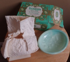 Vintage Avon moonwind VICTORIANA Soap Bar in Green dish box & wrapping - $29.00