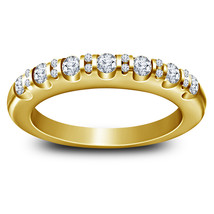 14k Yellow Gold Finish 925 Silver Womens Anniversary Ring Round Cut Sim ... - $77.99