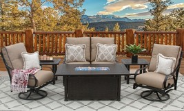 6  PC LOVESEAT, 2-CLUB SWIVEL ROCKERS, 2-END TABLES 34X58 RECTANGLE FIRE... - $5,485.59